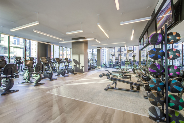fitness center at Atelier Apartments