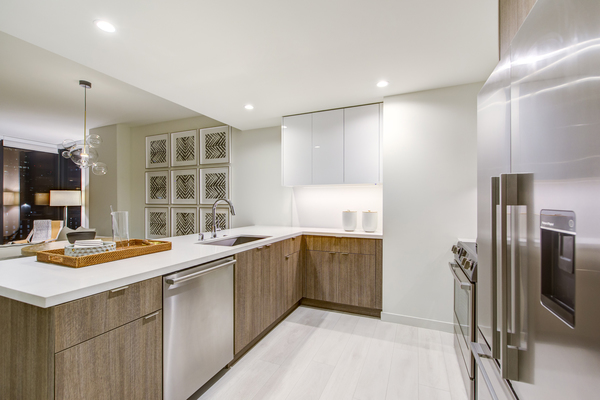 kitchen at Atelier Apartments