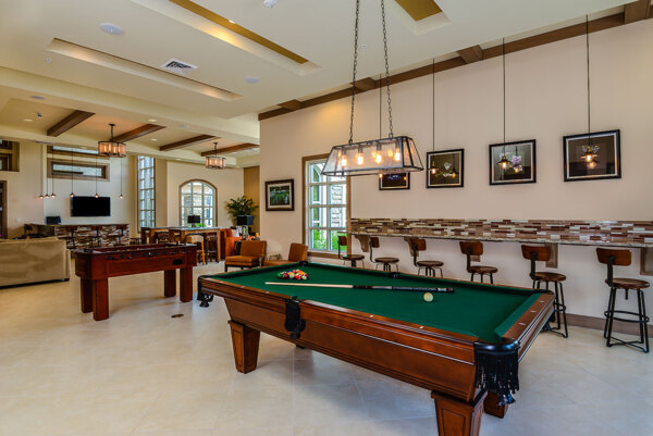 game room at Sanctuary at West Port Apartments