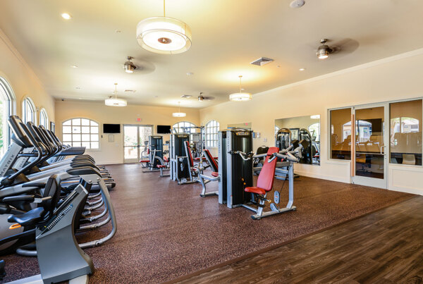 fitness center at Sanctuary at West Port Apartments