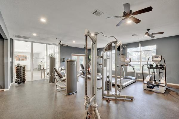 fitness center at Creekstone Apartments