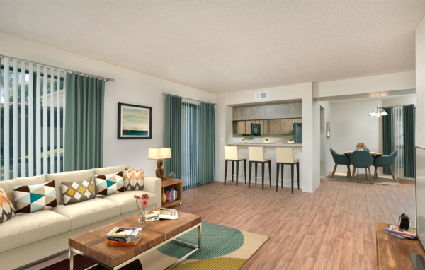 Living Room at Avana at the Pointe Apartments