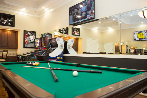 clubhouse game room at Villages at Ellis Crossing Apartments