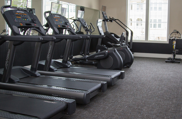 fitness center at The Reserve at Ellis Crossing Apartments