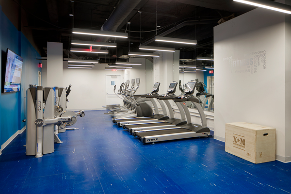 fitness center at The Republic Apartments