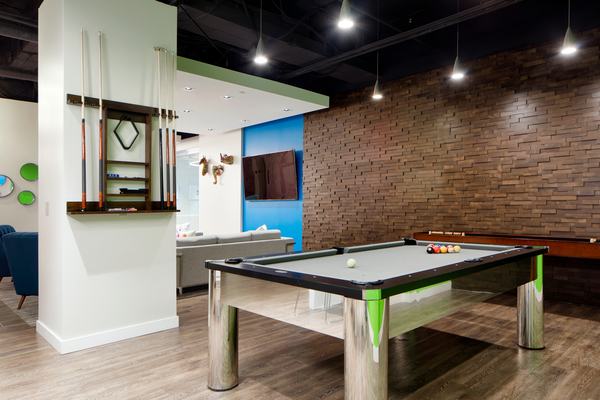 game room at The Republic Apartments