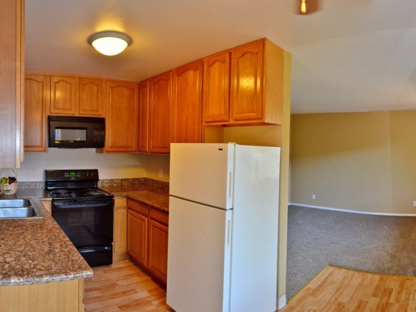 kitchen at Marina Crescent Apartments