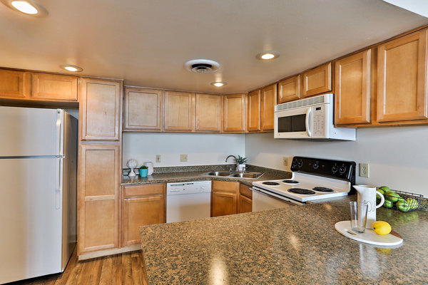 kitchen at Paradise Palms Apartments