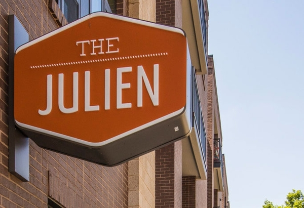 signage at The Julien Apartments