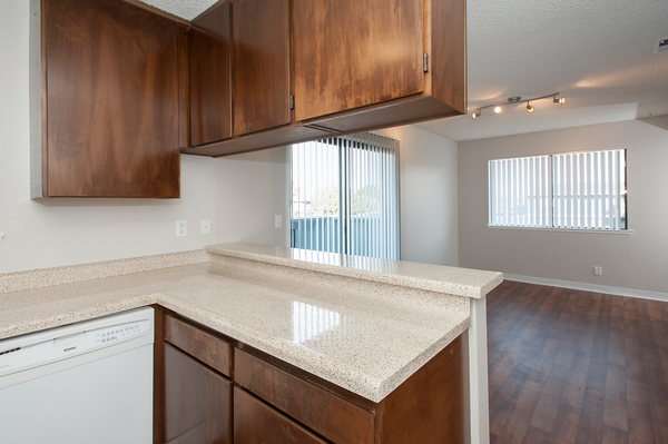 kitchen at Woodside Park Apartments