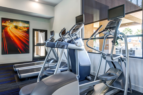 fitness center at The Cooper 202 Apartments
