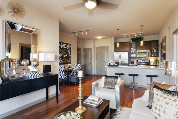 living room at Alara Union Station Apartments
