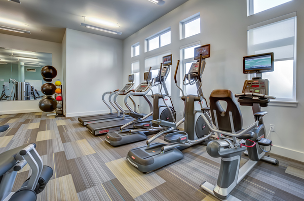 fitness center at Quimby at Bay Meadows Apartments