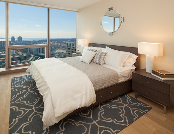 bedroom at Atlantic Station Apartments