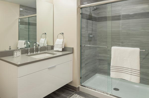 bathroom at Atlantic Station Apartments