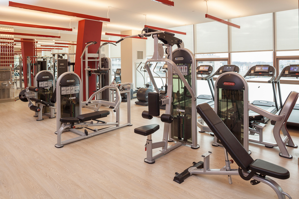 Fitness center at Atlantic Station Apartments