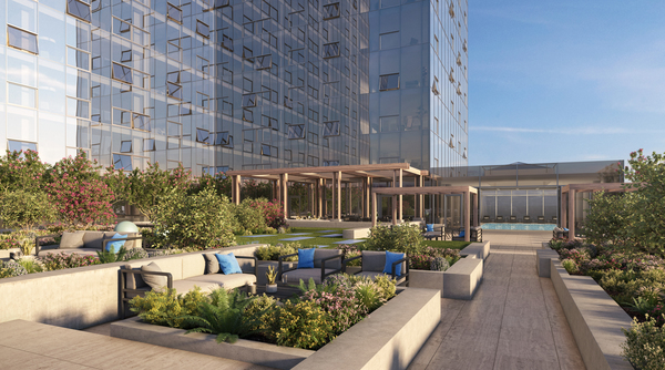 rooftop patio at Atlantic Station Apartments