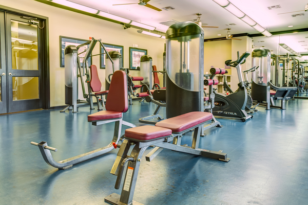 fitness center at The Westheimer Apartments