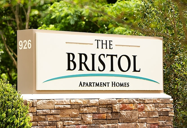 signage at The Bristol Apartment Homes