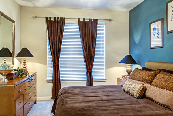 bedroom at Plaza at Westchase Apartments