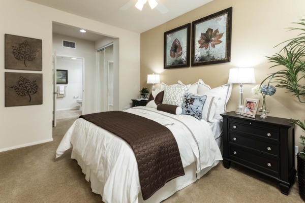 bedroom at Overture Riverwalk Apartments