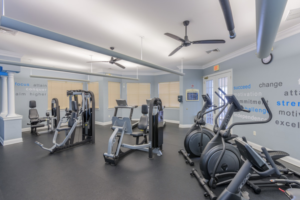 fitness center at Courtney Ridge Apartments