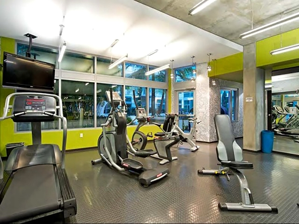 fitness center at Tenth&G Apartments