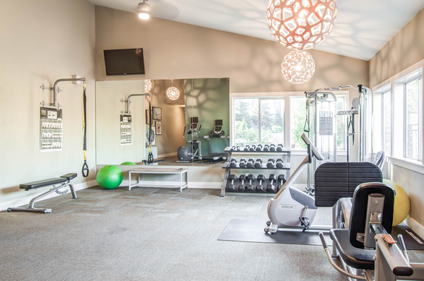 fitness center at Montair at Somerset Hill Apartments