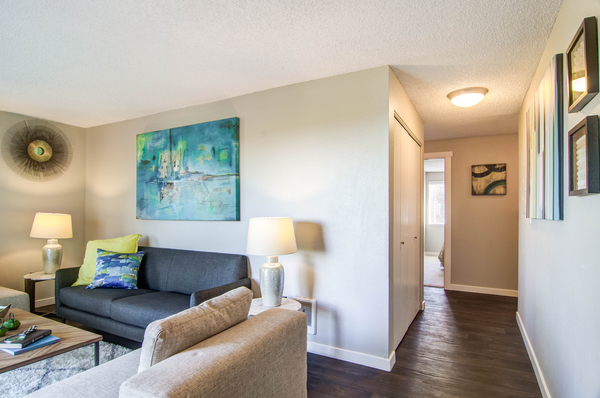 living room at Montair at Somerset Hill Apartments