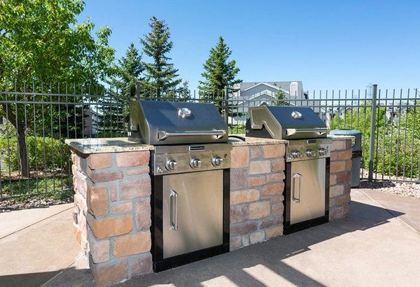grill area at Aspen Ridge Apartments