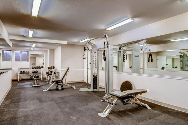fitness center at Lex at Lowry Apartments