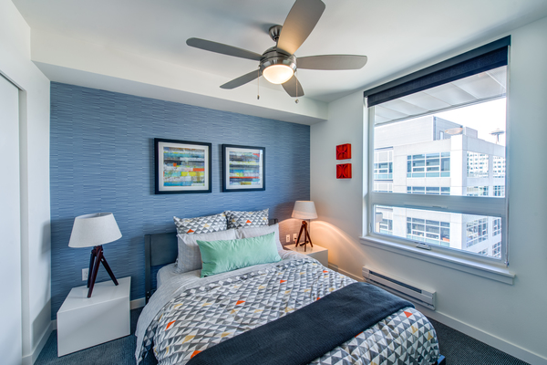 bedroom at Radius Apartments