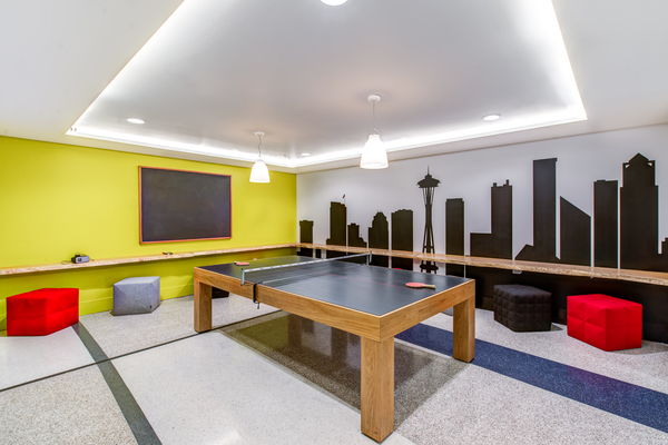 clubhouse at Radius Apartments