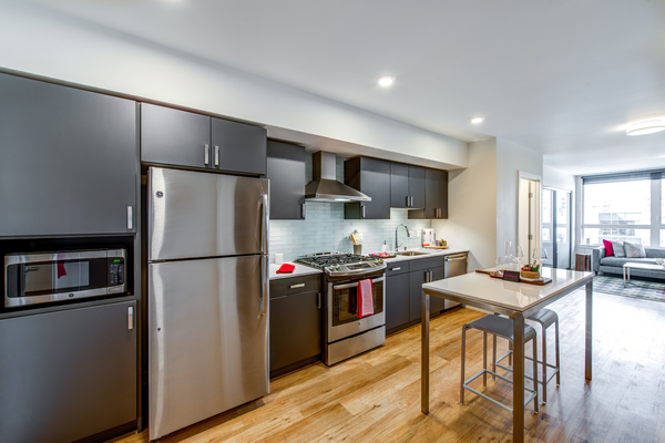 kitchen at Radius Apartments