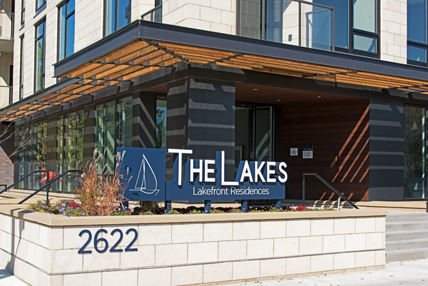 signage at The Lakes Residences Apartments