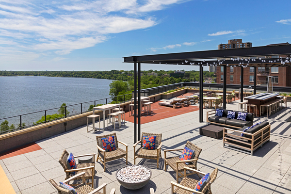 rooftop deck at The Lakes Residences Apartments