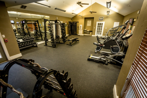 fitness center at Outpost at Waco Apartments