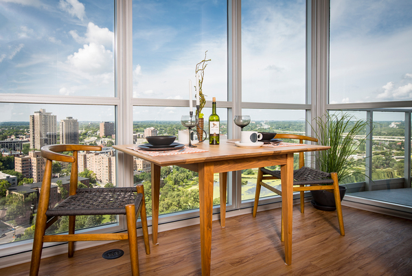 dining room at LPM Apartments
