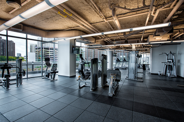 fitness center at LPM Apartments