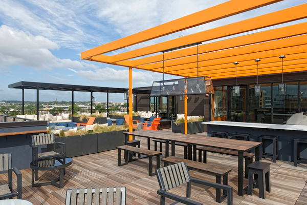 rooftop patio at The Aspen Apartments