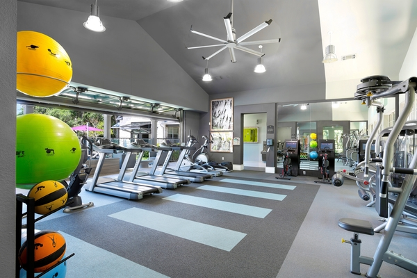fitness center at The Preserve at Travis Creek Apartments