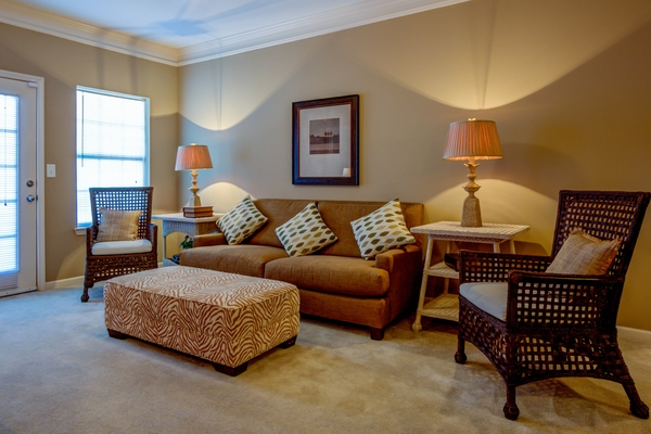 living room at Lauren Ridge Apartments