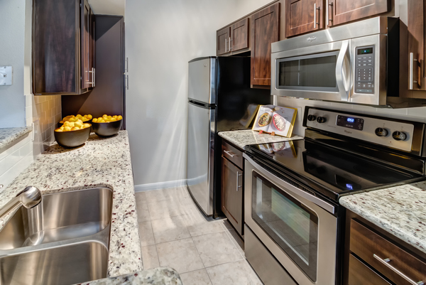 kitchen at Villas at River Oaks Apartments