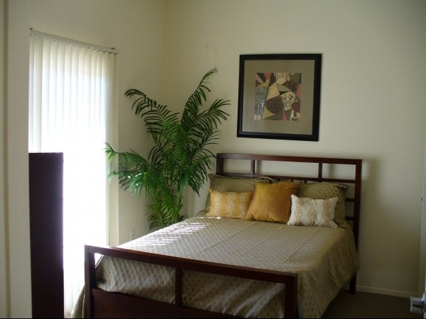 bedroom at Raincross Senior Village Apartments