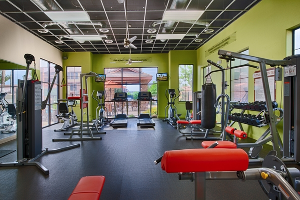fitness center at Residences at FortyTwo25 Apartments