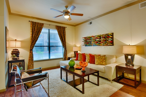 living room at Residences at FortyTwo25 Apartments