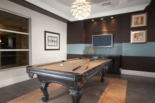 game room at Allure Apartments
