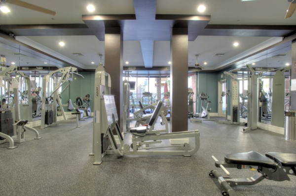 fitness center at Allure Apartments