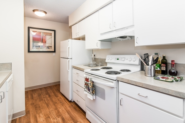 kitchen at Garden Park Apartments