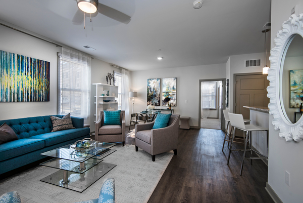 living room at Veranda at Norton Commons Apartments